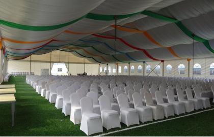 25m white event tent