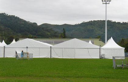 White pvc event tent