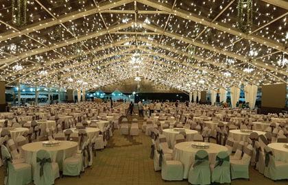 Large transparent wedding tent