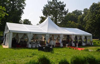 High peak wedding tent