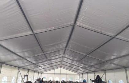 300 people wedding tent